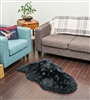 NZ Sheepskin Rug | Black Single Sheepskin