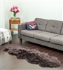 brown sheepskin double rug
