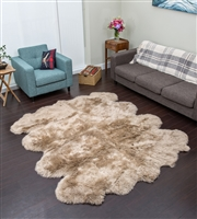 Taupe NZ Shearling Rug
