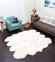 Ivory/White NZ Shearling Rug