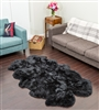 quad black nz sheepskin rug