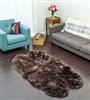 brown black nz sheepskin rug