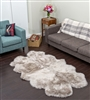 Stone quad nz sheepskin rug