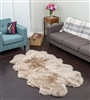 Taupe quad nz sheepskin rug
