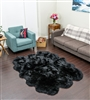 Sheepskin Rug | Sexto Black Shearling Rug