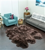 Sheepskin Rug | Sexto Brown Shearling Rug
