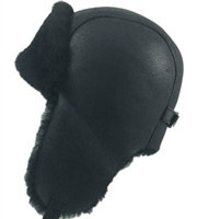 Pilot Sheepskin Hat | Black