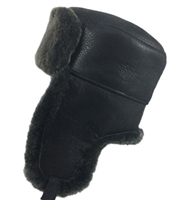 Shearling Sheepskin Russian Trooper Hat