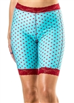 Red Hot Aqua Dot Bike Shorts