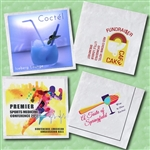 "3-Ply White, Full Color Digital Print Beverage Napkin, 5"" x 5"""