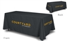 Marriott branded table covers