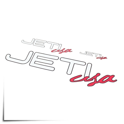 "Decal Sheet Jeti USA White/Red 3""/6""/12"" (75/150/305mm)"