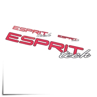 "Decal Sheet Esprit Tech Red/White 3""/6""/12"" (75/150/305mm)"