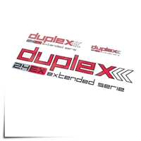 "Decal Sheet Duplex 2.4 Red/White 3""/6""/12"" (75/150/305mm)"