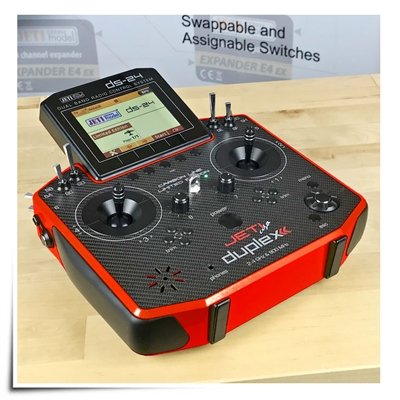Jeti Duplex DS-24 Carbon Racing Red 2.4GHz/900MHz w/Telemetry Transmitter Jeti USA Limited Edition Radio
