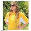 Polo Shirt Yellow/White Jeti USA Size L