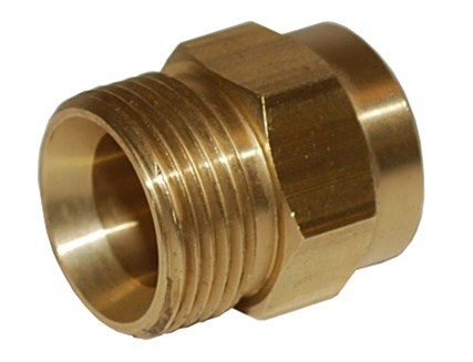PRESSURE WASHER PUMP PARTS | HOSE CONNECTOR | 22 MM x 14 MM MALE / 3/8