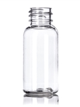 Bottle - Plastic - Boston Round - Clear - 20/410 - 1 oz (Set of 100)