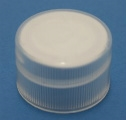 Cap - Plastic - Ribbed - Natural - 20/410