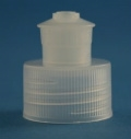 Cap - Plastic - Ribbed Push/Pull - Natural - 24/410