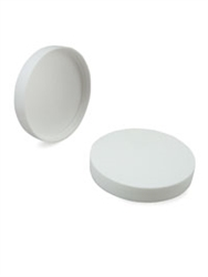 Lid - Plastic - Ribbed - White - 120/400 - Unlined (Case of 210)