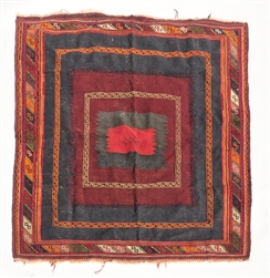 Handwoven Tibetan Antique Carpet