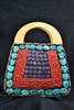 Himalayan Beaded bag with Wooden handle