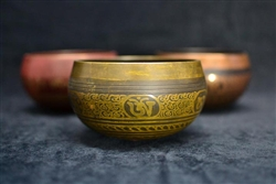 Singing Bowl with Om Mani Padme Hum design