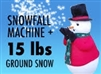 Snowfall Machine plus 15 lbs Instant Snow