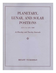 Planetary, Lunar, and Solar Positions
