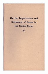 On the Improvement and Settlement of Lands in the United States