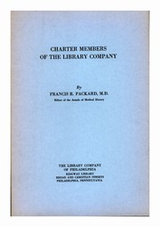 Charter Members of The Library Company of Philadelphia
