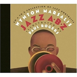 This unique alphabet book includes a jazz musician