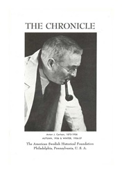 American Swedish Historical Foundation: The Chronicle, Autumn 1954