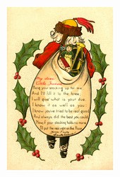 George M. Brightbill, Strawbridge & Clothier holiday advertisement, Color postcard, ca. 1920.<br />
