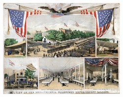 View of the Philadelphia Volunteer Refreshment Saloons. (1861)