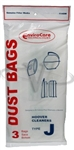 Hoover Bag Paper Type J Slimline Portable 3 Pack Envirocare
