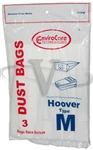 Hoover Bag Paper Type M Canister Dimension 3 Pack