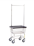 Standard Laundry Cart w/ Double Pole Rack, # 100E58