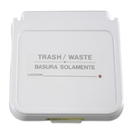 Receptacle Label, Trash/Waste - Gray Lettering, pack of