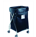 WIDE COLLAPSIBLE HAMPER WITH BLACK VINYL BAG