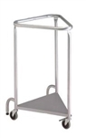 "R&B Wire Deluxe Triangular Hamper, Powder Coated 18"" - No Lid"