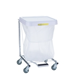 "R&B Wire Single Medium Duty Hamper w/ Foot Pedal - 28"" High"