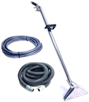 Sandia 80-0500 Stainless Steel Dual Jet Wand Kit with 25' Vacuum and Solution Hoses