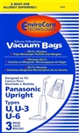 Panasonic Upright Paper Bag Style U U3 & U6 MicroLined 3 Pack