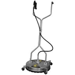 "BE Pressure 24"" Whirl-A-Way Stainless Steel 4000 PSI Flat Surface Cleaner 85.403.010"