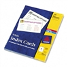 Avery Laser/Inkjet Unruled Index Cards, 3 x 5, White, 1
