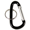 Advantus Carabiner w/Split Key Ring, Aluminum, 10/Pack,