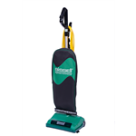 Bissell PERMA- BELT 8lb Commercial Upright Vacuum, Black and Green, Ergonomic Handle, Switch In Handle, 40' Cord, BGU8500