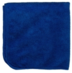 Microfiber Cleaning Cloths, Blue, 16x16, Pack
